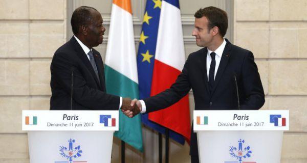 """Résultat de recherche d'images pour """"macron ouattara"""""""