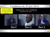 Gbagbo et Blé Goudé: Toutes LES VIDÉOS du 29 Juin 2016