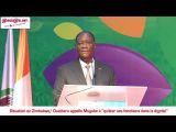 Situation au Zimbabwé: Ouattara appelle Mugabé à ''quitter ses fonctions dans la dignité'