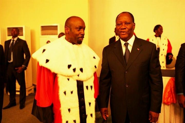 Pr Francis Wodié, Président du Conseil Constitutionnel sur Vox Africa : «  Je ne me reconnais actuellement d'aucune obédience politique » |  Ivoirebusiness.net